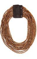 Brunello Cucinelli Beaded Multi-strand Necklace - Lyst