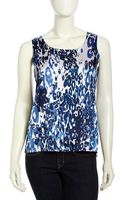 Berek Graphicprint Silk Tank Top Blue Large - Lyst