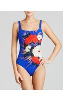 Gottex Mandarin Square Neck Tank One Piece Swimsuit - Lyst