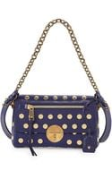 Marc Jacobs Flat Studs Small Gotham Shoulder Bag Blue - Lyst