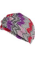 Missoni Mare Zigzag Knit Turban - Lyst