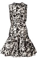 Lanvin Abstract Print Peplum Dress - Lyst