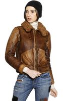 Polo Ralph Lauren Shearling Leather Jacket - Lyst