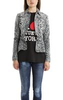 Balmain Leopard Print Denim Jacket - Lyst