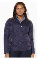 Lauren by Ralph Lauren Faux-leather-trim Jacket - Lyst