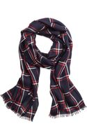 Brooks Brothers Windowpane Scarf - Lyst