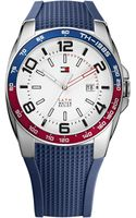Tommy Hilfiger Mens Navy Silicone Strap 44mm - Lyst