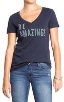 Old Navy Graphic V-neck Tees - Lyst