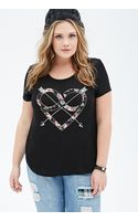 Forever 21 Infinity Heart Graphic Top - Lyst