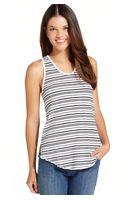 Calvin Klein Jeans Striped Sleeveless Tank Top - Lyst