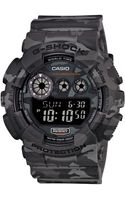G-shock Mens Digital Gray Camouflage Resin Strap Watch 55x51mm Gd120cm8 - Lyst