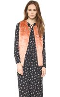 Maison Scotch Faux Fur Vest  Multi - Lyst