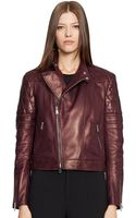 Ralph Lauren Black Label Lambskin Circuit Biker Jacket - Lyst