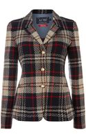 Armani Jeans Tweed Checked Jacket - Lyst