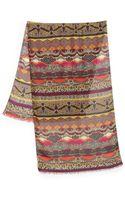 Etro Striped Wool Silk Scarf - Lyst