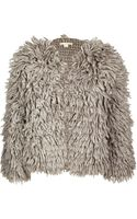 Michael Kors Wool Blend Textured Cardigan Jacket - Lyst