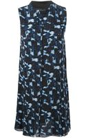 Proenza Schouler Abstract Print Dress - Lyst