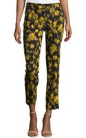 Michael Kors Samantha Leaf-print Pants - Lyst