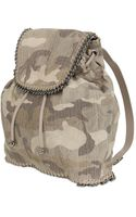 Stella McCartney Backpack Falabella Cotton Camouflage - Lyst