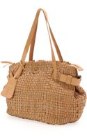 Henry Beguelin Opale Woven Leather Tote Bag Neutral - Lyst