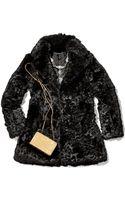 Diane von Furstenberg Laser-cut Rabbit Fur Coat - Lyst