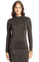 Diane Von Furstenberg Metallic Wool Knit Turtleneck - Lyst