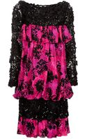 Yves Saint Laurent Vintage Vintage Sequin Sleeve Dress - Lyst