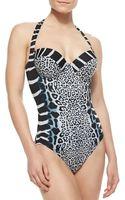 Gottex Savannah Underwire Halter Onepiece Swimsuit - Lyst