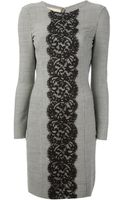 Michael Kors Herringbone Lace Dress - Lyst