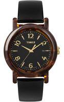 Timex® Womens Premium Originals Black Patent Leather Strap 40mm T2p238ab - Lyst
