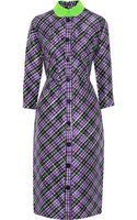 Roksanda Ilincic Plaid Silk and Wool-blend Dress - Lyst