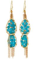 Panacea Quartz Beaded Chain Drop Earrings - Lyst