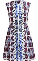 Peter Pilotto Printed Textured Silk Dress - Lyst