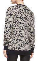 Rag & Bone Amoeba-print Knit Sweatshirt - Lyst