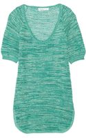 See By Chloé Open Knit Cotton Top - Lyst