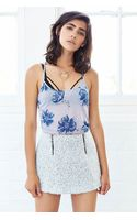 Urban Outfitters Uo Printed Donna Racerback Tank Top - Lyst