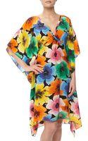 Love Moschino Floral Print Silk Caftan Dress - Lyst