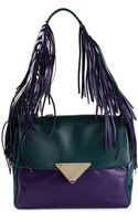 Sara Battaglia Teresa Fringed Shoulder Bag - Lyst