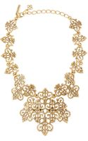 Oscar de la Renta Filigree Bib Necklace - Lyst