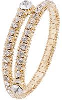 ABS By Allen Schwartz Rhinestone Accented Coil Bracelet - Lyst