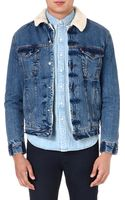 Levi's Sherpa Denim Jacket Blue - Lyst