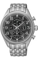 Seiko Mens Chronograph Solar Alarm Stainless Steel Bracelet Watch 43mm Ssc207 - Lyst