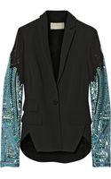 Antonio Berardi Embellished Georgette and Crepe Jacket - Lyst