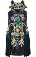 Mary Katrantzou Tikiman Embroidered Dress - Lyst