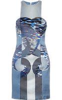 Dion Lee Axis Printed Silk Dress - Lyst