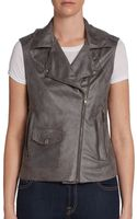 Georgie Faux Leather Moto Vest - Lyst
