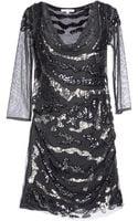 Patrizia Pepe Short Dress - Lyst