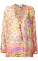 Emilio Pucci Necklace Detail Blouse - Lyst