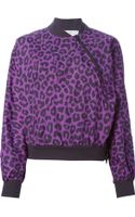 Adidas By Stella Mccartney Leopard Print Sport Jacket - Lyst