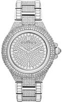 Michael Kors Womens Camille Glitz Stainless Steel Bracelet Watch 43mm - Lyst